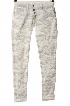 Buena Vista Tube jeans wolwit-lichtgrijs abstract patroon casual uitstraling