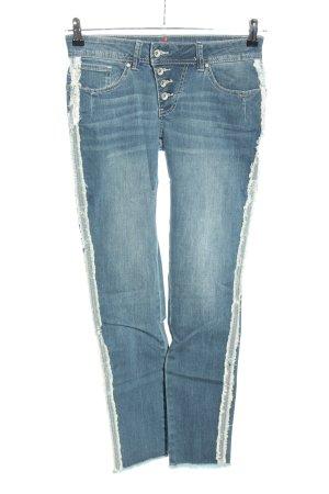 Buena Vista Skinny Jeans blau-weiß Casual-Look