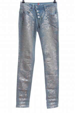 Buena Vista Skinny Jeans blau-silberfarben Mustermix Casual-Look