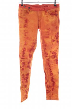 Buena Vista Skinny Jeans hellorange abstraktes Muster Casual-Look