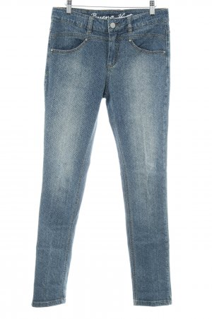 Buena Vista Skinny Jeans Zackenmuster Washed-Optik