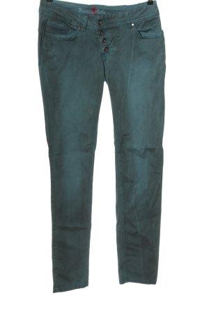 Buena Vista Slim jeans lichtgrijs-turkoois casual uitstraling