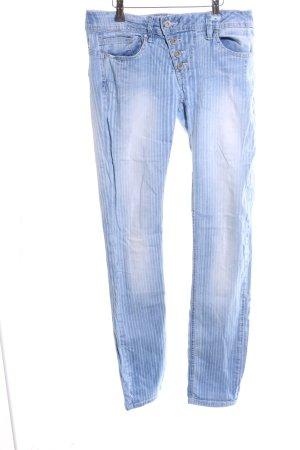 Buena Vista Slim Jeans blau Streifenmuster Casual-Look