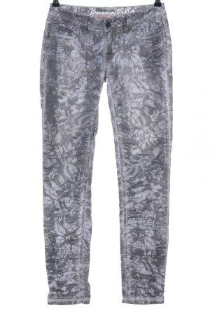 Buena Vista Straight-Leg Jeans hellgrau Allover-Druck Casual-Look