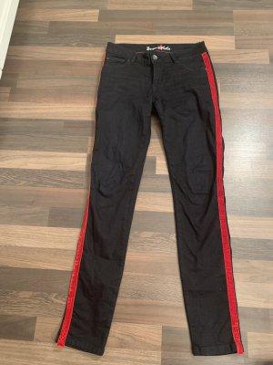 Buena Vista Tube jeans rood-zwart