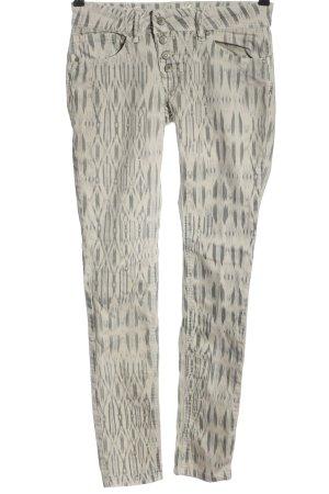 Buena Vista Stretch Trousers natural white-black allover print casual look