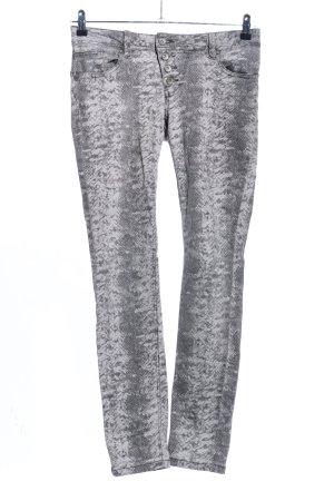 Buena Vista Pantalone elasticizzato grigio chiaro stampa integrale stile casual