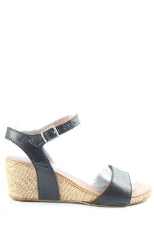 Bueno Sandalen met bandjes room-zwart casual uitstraling