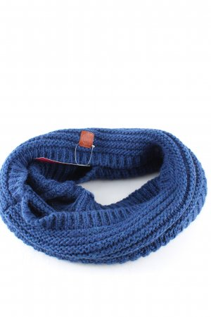 Buff Knitted Scarf blue cable stitch casual look
