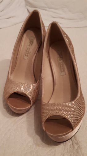Buffalo Peep Toe Pumps rose-gold-coloured