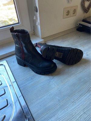 Buffalo Low boot noir-rouge