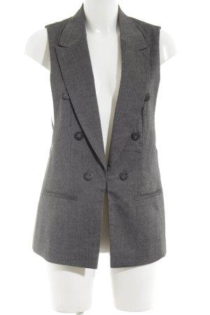 Buffalo Gilet de costume gris clair-noir moucheté style d'affaires