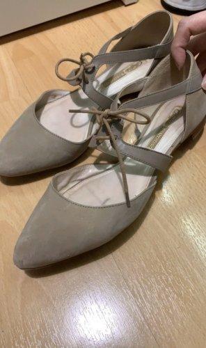 Buffalo London Ballerines à lacets gris brun-beige