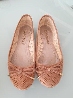 Buffalo London Classic Ballet Flats cognac-coloured