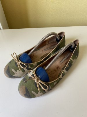 Buffalo Slingback Ballerinas green grey-dark green