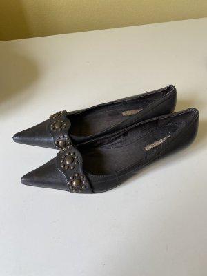 Buffalo Ballerinas Gr 40 Leder mit Nieten