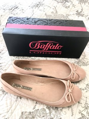Buffalo Peep Toe Ballerinas rose-gold-coloured
