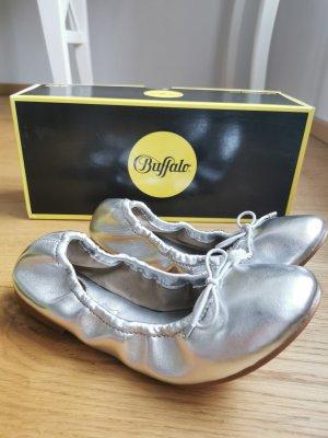 Buffalo Składane baleriny srebrny
