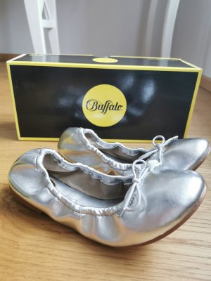 Buffalo Bailarinas plegables color plata