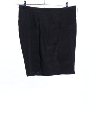 Buffalo Bleistiftrock schwarz Streifenmuster Casual-Look