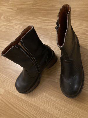 Buffalo Low boot noir cuir