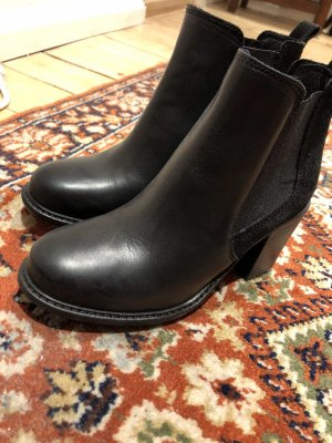 Buffalo Bottines à enfiler noir cuir