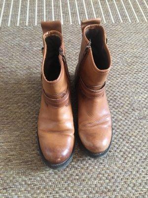 Buffalo Botas de tobillo coñac