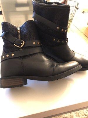 Buffalo London Low boot noir-doré cuir