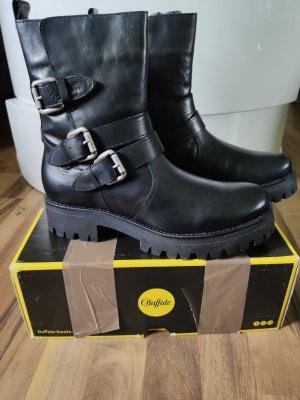 Buffalo Boots Stiefel 41 schwarz Leder