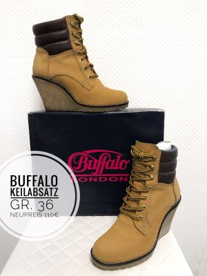 Buffalo boots stiefel ankle boots Keilabsatz Schuhe 36 Blogger Vintage boho