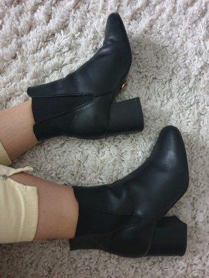 Buffalo Chelsea Boots 36 Echtleder Leder Stiefeletten Stiefel Blockabsatz Ankle Booties Pumps