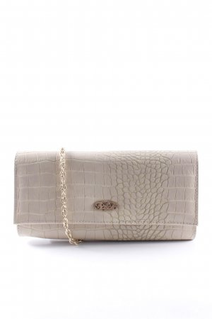 Buffalo Clutch creme-hellgrün Animalmuster Logo-Applikation