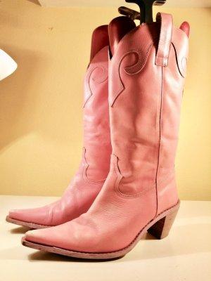 Buffalo Botas estilo vaquero rosa Cuero
