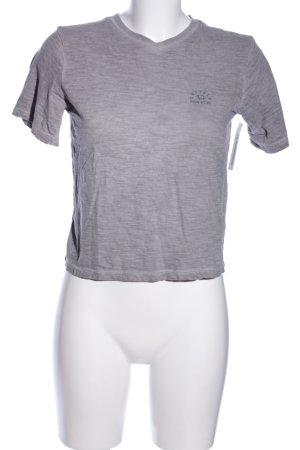 Buffalo Cropped Shirt hellgrau meliert Casual-Look