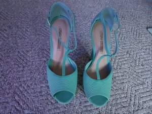 Buffalo T-Strap Sandals turquoise leather