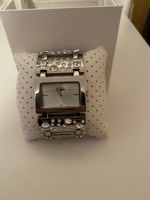 Buffalo Watch With Metal Strap grey-silver-colored metal
