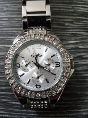 Buffalo Watch With Metal Strap silver-colored