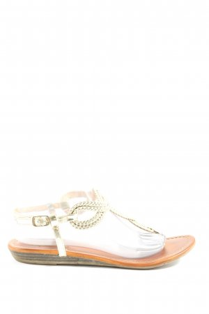Buffalo Sandalias Dianette color oro look casual