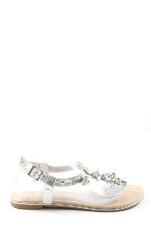 Buffalo Sandały japonki srebrny W stylu casual