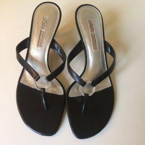 Buffalo Dianette sandalen zwart Leer
