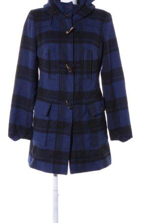 Buffalo Duffle-coat bleu-noir imprimé allover style décontracté