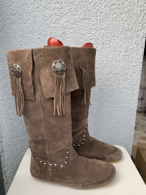 Buffalo Botas estilo vaquero marrón claro-beige