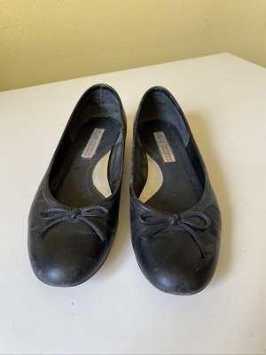 Buffalo Slingback Ballerinas black leather