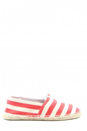 Buffalo Espadrille Sandals red-natural white striped pattern casual look