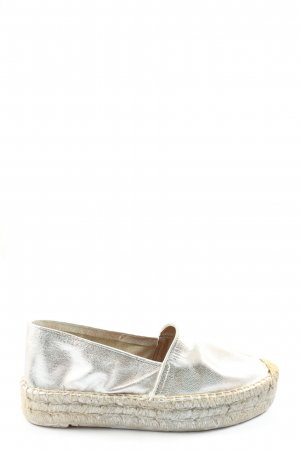 Buffalo Espadrilles-Sandalen silberfarben Casual-Look