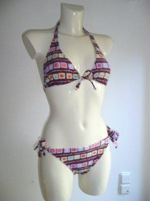 Buffalo Eyecatcher Bikini Set Neckholder + Mini Slip bunt + Strass Gr 38