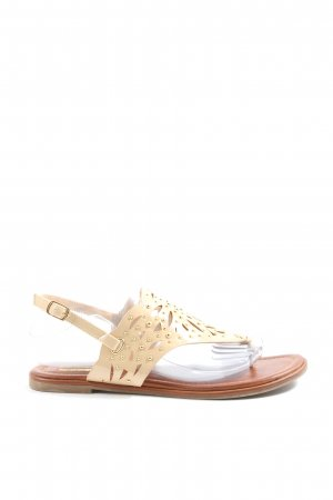 Buffalo girl Flip-Flop Sandals cream-gold-colored casual look