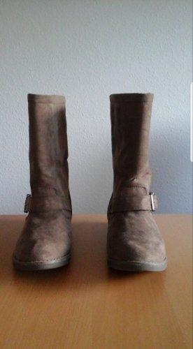 Buffalo girl Borceguíes marrón grisáceo
