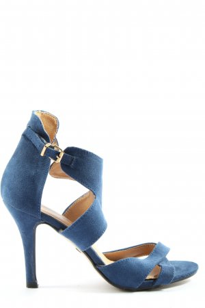 Buffalo girl High Heel Sandaletten blau-creme Casual-Look