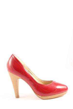 Buffalo girl Wysokie obcasy czerwony W stylu casual